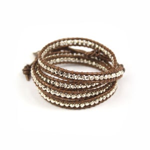 Image of SERENADE Leather Wrap Bracelet