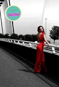 Image of Red Ava Dress
