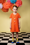 Image of Bubble Tangerine Dress