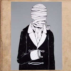 Image of Invisible Man silkscreened poster 18x24 - limited to 50