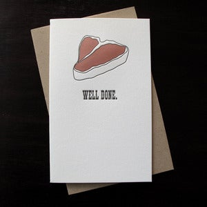 Image of 1609 - meaty letterpress congratulations card 