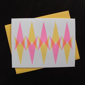 Image of 1813B - trek blank letterpress note card - set of 6 
