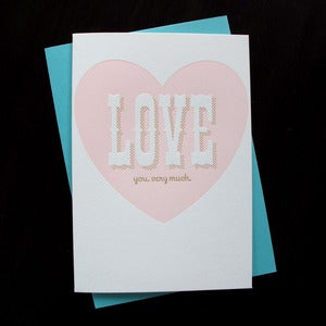 Image of 1409 - big love letterpress card