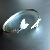 Image of Flying Bird Bracelet - Handmade Sterling Silver Bracelet