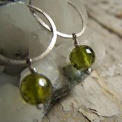 Image of Mini Hoops- Silver, Grass