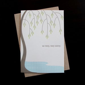 Image of 1309 - sorrow tree letterpress sympathy card