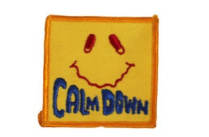 "Image of Vintage ""Calm Down"" Patch"