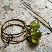 Image of Mini Hoops- Brass, Grass