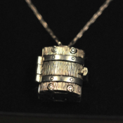Image of Solid Silver Treasure Chest Locket