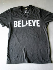 Image of Men's Black Believe V-Neck