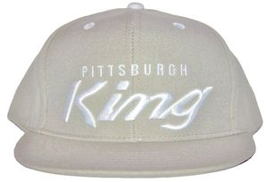 Image of &quot;Pittsburgh King&quot; snapback lt grey/white