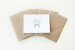 Image of Let Us Gather Note Cards (Set of 5)