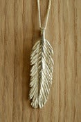 Image of Feather Necklace 3D Small