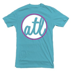 Image of Atlanta 'ATL' Circle Graphic T-Shirt - Bayside