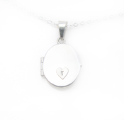 Image of Sterling Silver Monogram Locket