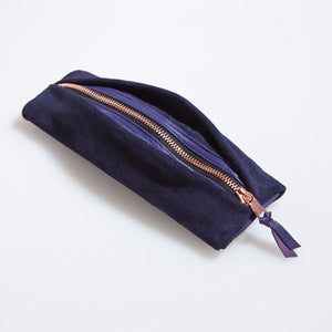 Image of MINI NECESSAIRE-Navy & Purple