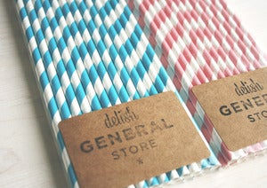 Image of Paper straws - STRIPES!