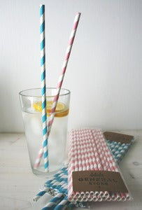 Image of Paper straws - LONGER STRIPES!