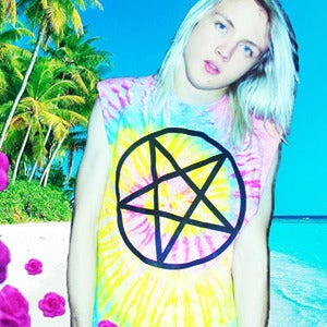 Image of TIE DYE PENTAGRAM TOP