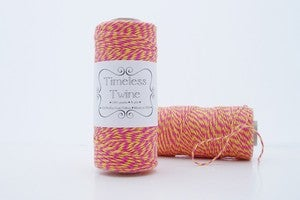 Image of Pink and Yellow Bakers Twine ~ Raspberry Lemonade