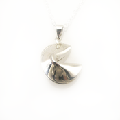 Image of sterling silver fortune cookie locket
