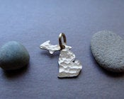 Image of Tiny 14K Gold Michigan Pendant