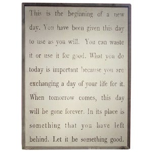 Image of This is the Beginning of a New Day by Sugarboo Designs