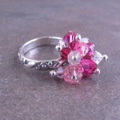 Image of Cluster Ring Fuschia