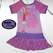 Image of **SOLD OUT** Phineas and Ferb Candace Dress - Size 8/9/10