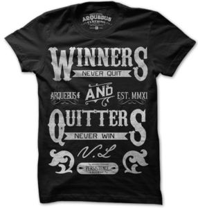 Image of WINNERS NEVER QUIT-BLK