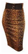 Image of Switchblade Stiletto Leopard Waist Skirt