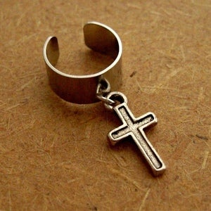 Image of Single Cross Earring Cuff