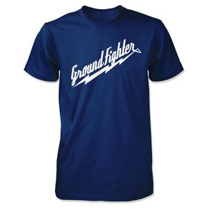 "Image of Ground Fighter ""White Lightning"" Shirt - Navy"
