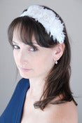 Image of Ostrich & Flower Headband