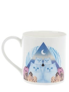 Image of Chrissie Abbott 'Cat' 1 Pint Mug by JaguarShoes Collective