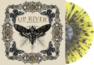 "Image of UP RIVER "" Rough Ground"" 7 inch Yellow Black Splatter LTD 300"