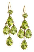 Image of Kara Ackerman <i> Elizabeth <i/> Chandelier Earrings in Peridot and 14k Yellow Gold