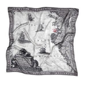"Image of SS2012: Silk scarf ""MAP"""