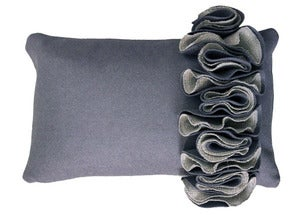 Image of Lorna Syson: Ruffle Cushion Slate
