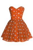 Image of Pin-Up Mini Orange Party Dress