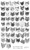 Image of Cat Tea Towel - My friends cats and a token dog