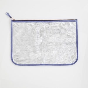 Image of LARGE CLUTCH-Silver & Lilac