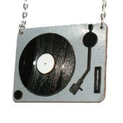 Image of Ltd. Edition Turntable Necklaces made from layered COLOUR vinyl records.