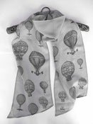 Image of vintage balloons - grey