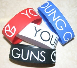 Image of Wristbands available in Black, White, Red or Blue