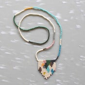 Image of Versicolor Peyote Stitch Necklace