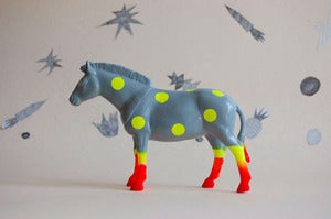 Image of polka dot zebra //grey//the strange planet