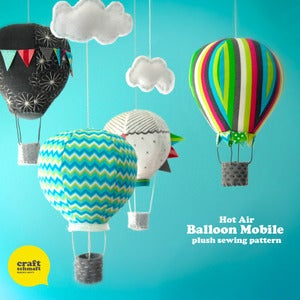 Image of Air Balloon Mobile Pattern (PDF)