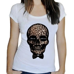 Image of T-shirt femme Scio me nihil scire - Scooped neck - white or heather grey