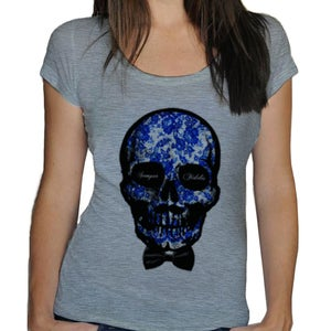 Image of T-shirt femme Semper Fidelis - Scooped neck - white or heather grey